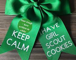 girl scout ribbon girl scout cookies etsy