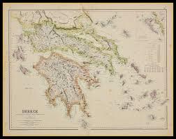 Greek Islands Map Map Of Greece U0026 The Greek Islands Circa 1872