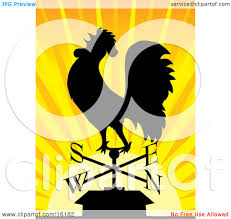 Bull Weathervane Silhouetted Rooster Crowing On A Weathervane At Sunrise Clipart