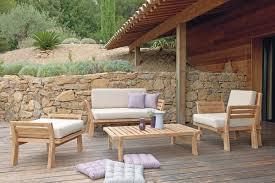 canap teck jardin canape de jardin en bois cheap canap en palette vintage pour salon