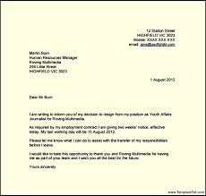 resignation letter template with 2 week notice templatezet