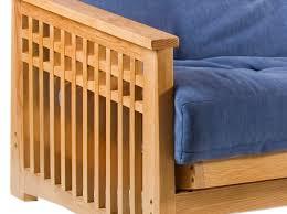 oak futon sofa bed akino 3 seat futon sofa bed in oak