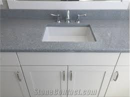 Bathroom Vanity Counters Sparkle Gray Quartz Stone Surfaces Bathroom Vanity Tops