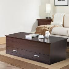 Storage Living Room Tables Yaheetech Slide Top Trunk Coffee Table With Storage