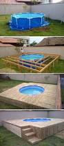 above ground pool deck top 19 simple and low budget ideas for