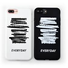couple simple letter everyday stylish idea phone case for iphone 7