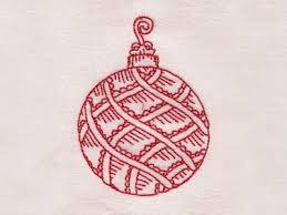 machine embroidery designs redwork ornaments set