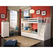 Twin Over Twin Bunk Beds With Trundle by Twin Over Twin Bunk Beds With Stairs And Trundle Wildon Home Reg