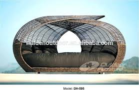 round rattan daybed round outdoor rattan daybed with canopy
