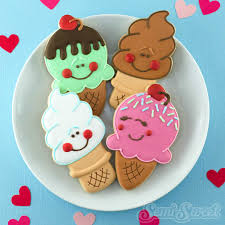 how to make cute ice cream cone cookies semi sweet designs