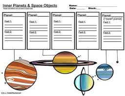 and outer planet worksheets bonus 4 piece clip art included