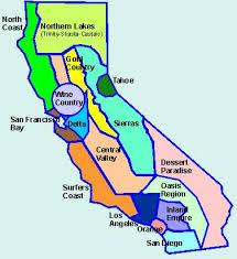california map regions cing regions of california