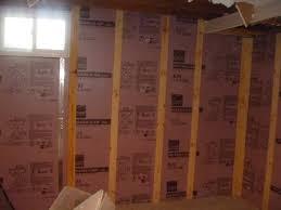 How To Insulate Basement Walls by Basement Walls Basement Moisture Out Bowed Wall After