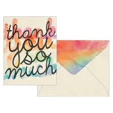 thank you cards rainbow water color thank you cards with envelopes 10 count target