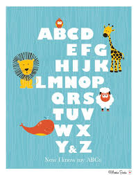 animal alphabet blue nursery art print monkiebirdie animal alphabet blue nursery art print