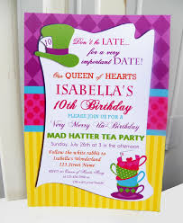 alice in wonderland template mad hatter tea party invitations u2013 gangcraft net