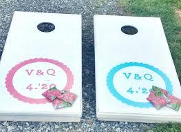 diy weddings custom bean bag toss game set spoonflower blog