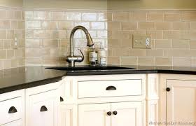 antique white kitchen cabinets with subway tile backsplash antique backsplash tile ideas for small kitchens white