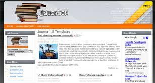 joomla education templates books education school joomla 1 5 template