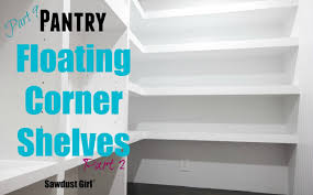 Build Corner Bookcase How To Build Diy L Shaped Floating Shelves Part 2