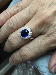diana wedding ring silver sapphire blue oval engagement ring kate middleton diana