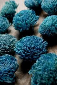 teal flowers sola flowers beautiful handmade saveoncrafts