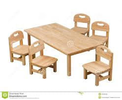 small desk and chairs for kids stock image image 25286481