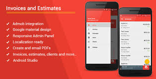 android invoices u0026 estimates template admob admin panel by