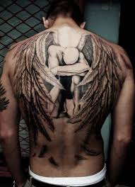 photo wing with tattoos design idea for and