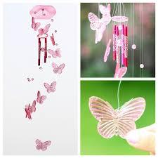 butterfly wind chime bell garden ornament gift garden