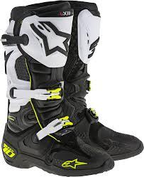 white motorbike boots alpinestars tech 10 black white motorcycle boots tech 10 13 ebay