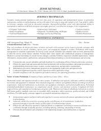 Pilot Resume Examples Avionics Technician Resume Sample Free Resume Example And