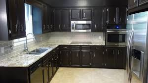 Black Kitchen Cabinets Style Cabinet Quartz Patterned Backsplash Ideas Kitchen Light