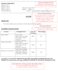 Best Resume For Freshers by How To Make A Cv Resume For Freshers Cv Resume Template Examples