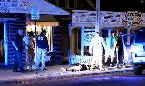 violence on our main street young man found down on sidewalk