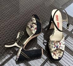 designer sandaletten original miu miu by prada designer sandaletten gr39 5 in bayern