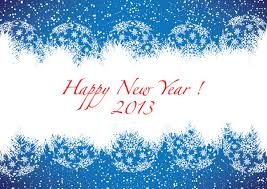 cards new year happy new year 2013 blue greeting card free vector free