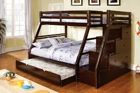 bunk bed with trundle and stairs style bunk bed with trundle and