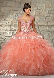 quinceanera dresses coral stylish cap sleeve white and coral gown quinceanera dresses