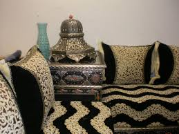 couvre canapé marocain idee deco salon marocain moderne