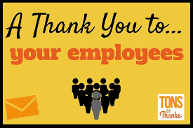 thank you to employees team and individual thank you note exles