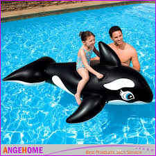 Inflatable Kids Pool Online Cheap 193 119cm Pvc Inflatable Black Whale Pool Float 2016