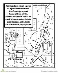 charles dickens u0027 a christmas carol coloring page ebenezer