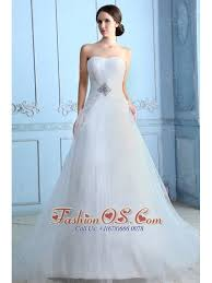 Wedding Dress Cast Pretty A Line Strapless Low Cost Wedding Dress Court Train Tulle