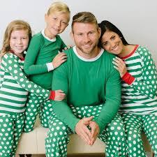 sleepyheads green polka dots and stripes family matching pajama set