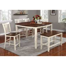 counter height dining table with bench 6 piece counter height dining room set with bench dover rc