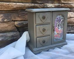 Shabby Chic Jewelry Armoire by Armoire Vintage Etsy