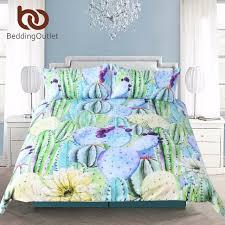 Tropical Bedding Sets Beddingoutlet 3pcs Printed Watercolor Cactus Bedding Set King