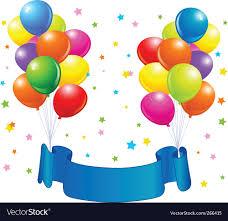 birthday balloons birthday balloons design royalty free vector image