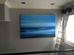 professional art hanging in boston shades in place